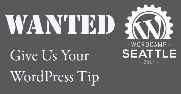 wordpress-tip-wanted